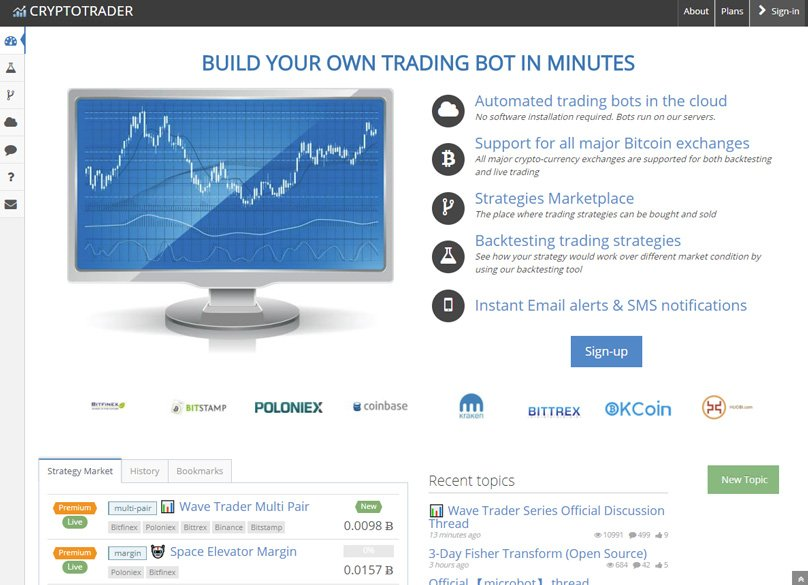 automated bitcoin trader app
